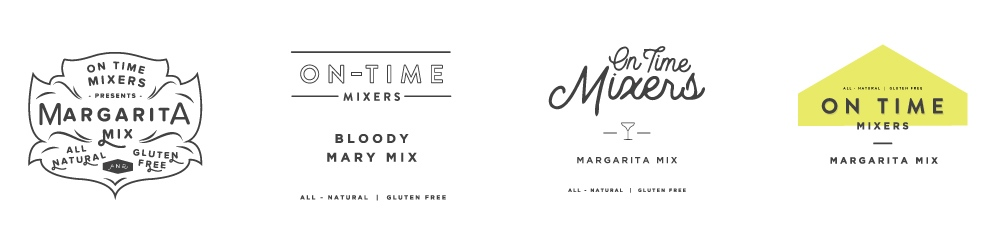 Above are some early label options based on our moodboards and discussions with the cofounders.