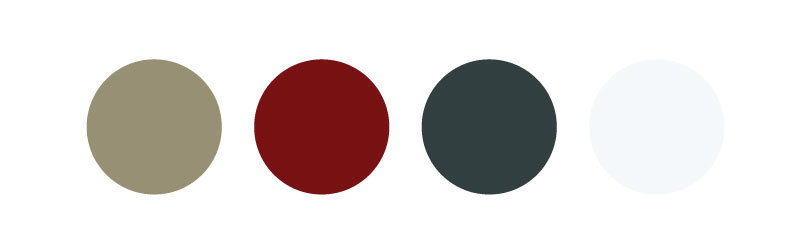 The color palette, with a faint gray on the far right