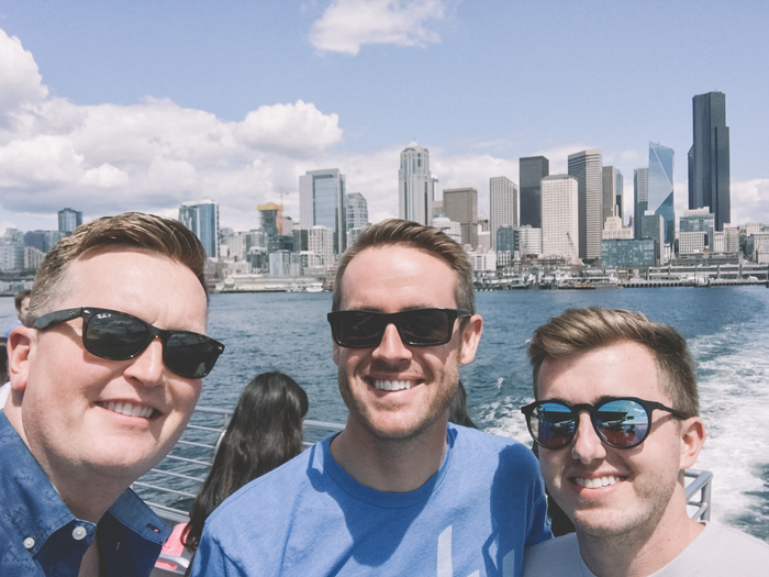 Trevor, Spencer and Mitch attend MozCon 2017 in sunny Seattle.