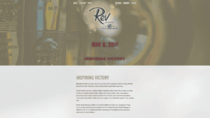 The banner image and first section of body copy from the Rev website.